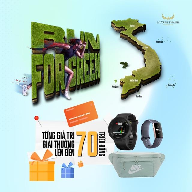 Phần thưởng siêu hấp dẫn từ Run For Green - Giải chạy online vì môi trường - 3