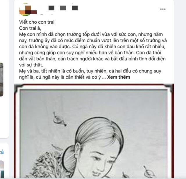 Ấm áp bức thư cô Phó Hiệu trưởng ở Đà Nẵng viết cho con trai thi rớt lớp 10 - 2