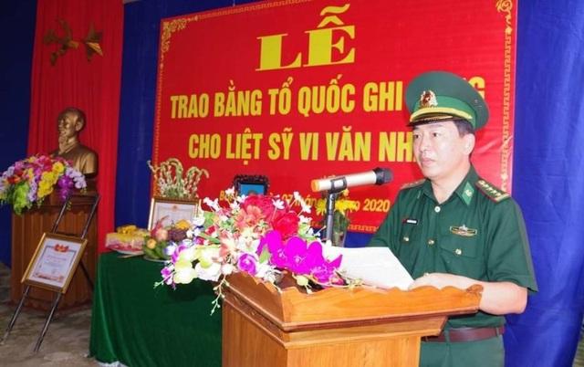 Thanh Hoá: Trao Bằng Tổ quốc ghi công cho Thiếu tá Vi Văn Nhất - 3