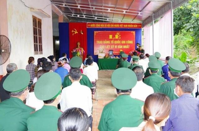 Thanh Hoá: Trao Bằng Tổ quốc ghi công cho Thiếu tá Vi Văn Nhất - 1