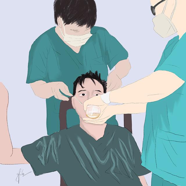 Cô gái Quảng Trị vẽ tranh về lực lượng chống dịch ở Đà Nẵng - 13
