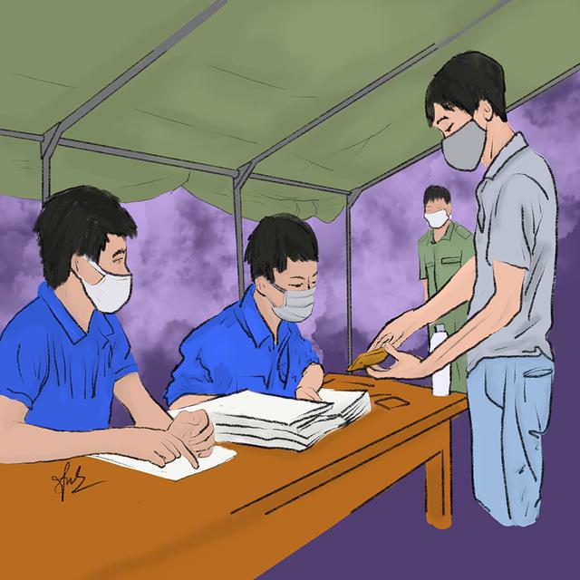 Cô gái Quảng Trị vẽ tranh về lực lượng chống dịch ở Đà Nẵng - 6