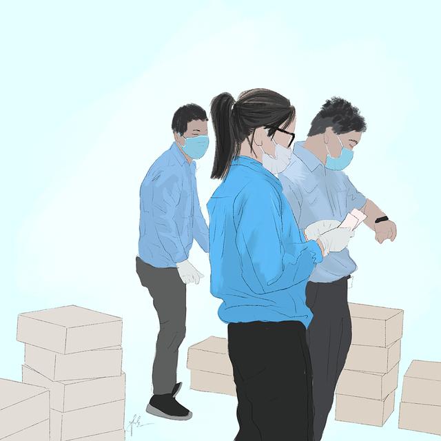Cô gái Quảng Trị vẽ tranh về lực lượng chống dịch ở Đà Nẵng - 8