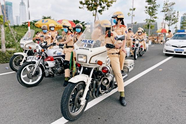 TPHCM: Ngày 25/8 ra mắt đội hình nữ cảnh sát giao thông dẫn đoàn - 1