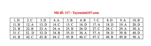 Gợi ý giải đề thi môn Toán tốt nghiệp THPT 2020 - 21