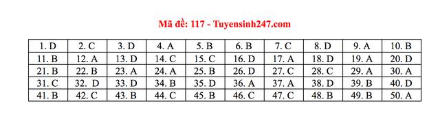 Gợi ý giải đề thi môn Toán tốt nghiệp THPT 2020 - 12