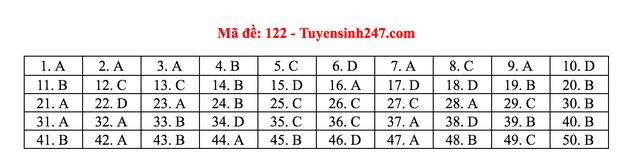 Gợi ý giải đề thi môn Toán tốt nghiệp THPT 2020 - 11