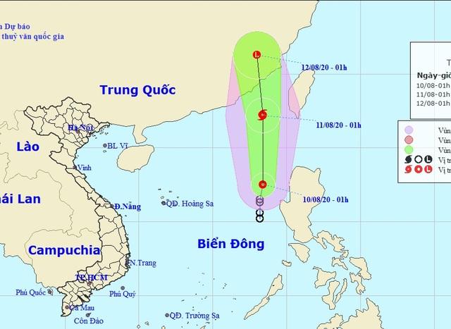 Áp thấp nhiệt đới trên Biển Đông có khả năng mạnh thành bão - 1