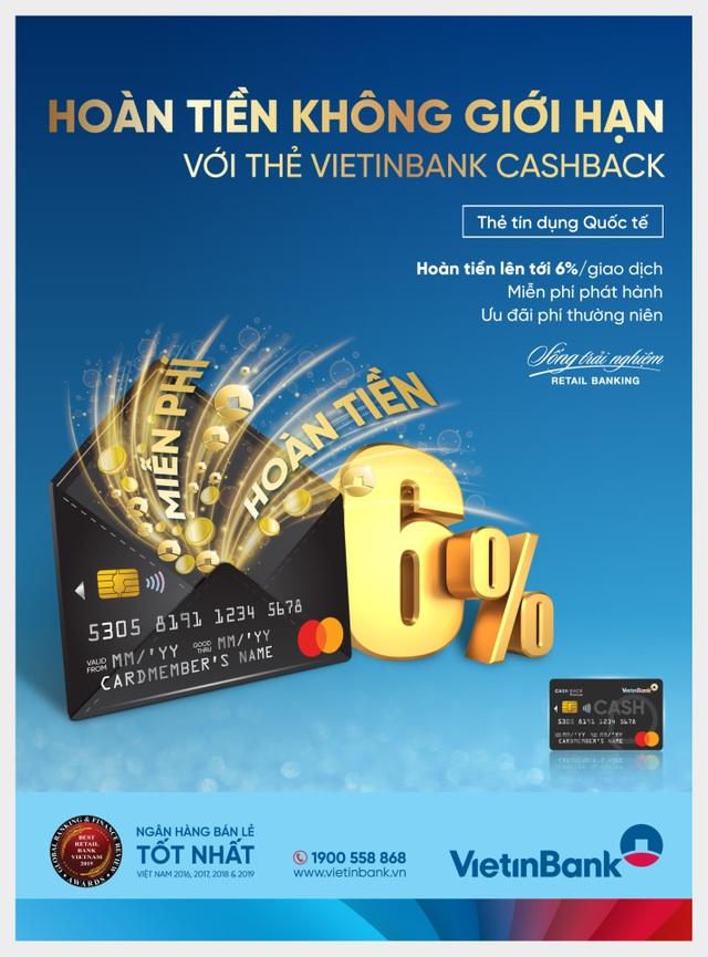 Hoàn tiền không giới hạn cùng thẻ VietinBank Cashback - 1