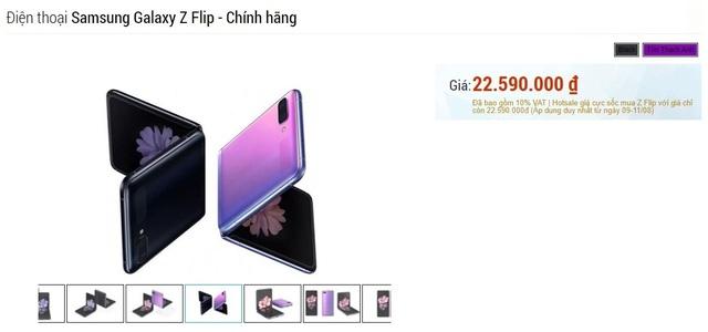 Smartphone màn hình gập Galaxy Z Flip giảm hơn 10 triệu đồng tại Việt Nam - 1