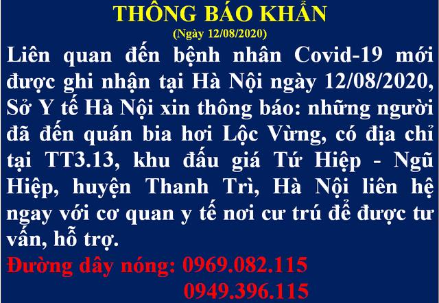 Hà Nội tìm người đến quán bia Lộc Vừng liên quan ca nghi Covid-19 Hải Dương - 1