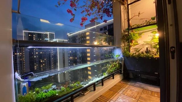 Ông bố ở Sài Gòn biến ban công thành vườn thu nhỏ với hồ cá, cây xanh - 4