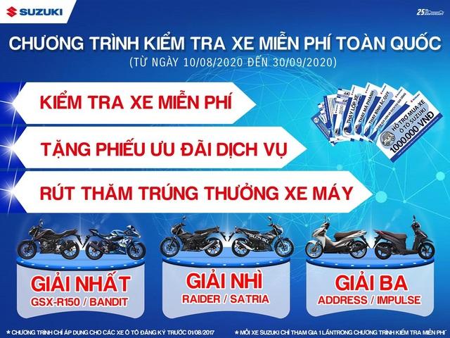 Việt Nam Suzuki thông báo chương trình kiểm tra miễn phí xe ô tô Suzuki - 1