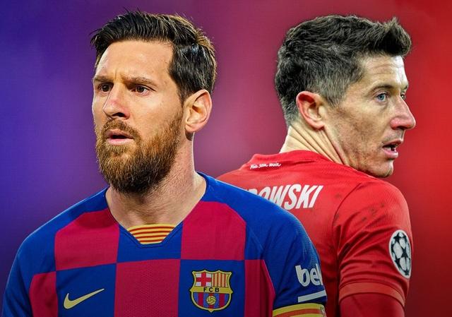 """Messi đối đầu Lewandowski: Cuộc chiến nảy lửa của hai """"nòng pháo"""" - 1"""