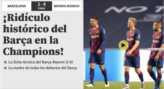 """Báo chí thế giới kinh hoàng, gọi Barcelona là """"nỗi ô nhục"""" - 1"""