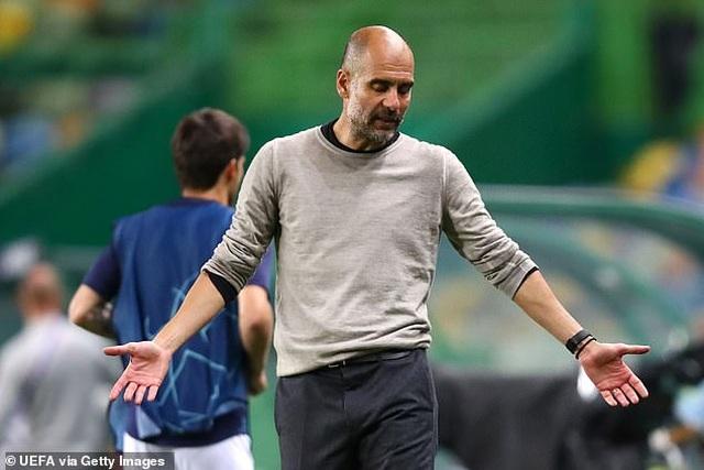 """HLV Guardiola: """"Man City không đáng nhận thất bại trước Lyon"""" - 2"""