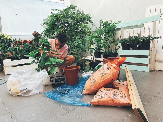 """Người chồng ở Sài Gòn tự làm vườn sân thượng """"sống ảo"""" cho vợ - 2"""