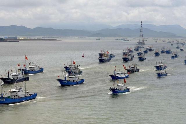 Tàu cá Trung Quốc ồ ạt tràn xuống Biển Đông sau thời hạn cấm đánh bắt - 1