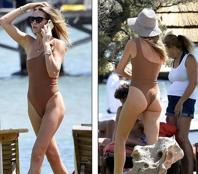 Abbey Clancy diện áo tắm quyến rũ trong kỳ nghỉ tại Italia - 1