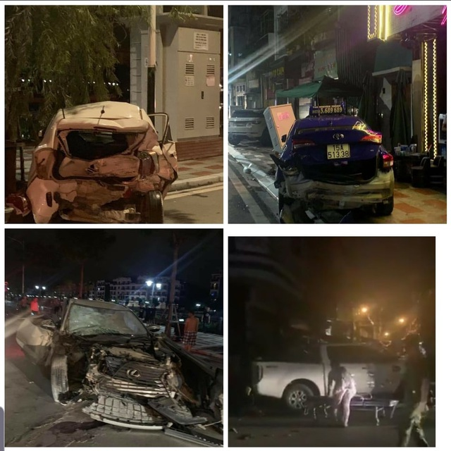 4 ô tô tông nhau trên phố đi bộ tại Hải Phòng, nữ công an tử vong - 2