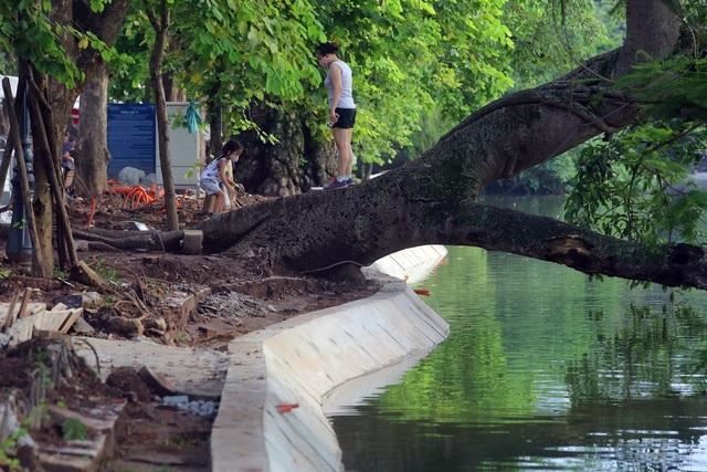 Gần 1.500 khối bê tông tạo vòng khép kín quanh hồ Hoàn Kiếm - 9