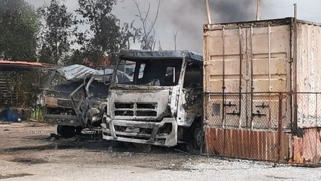 Cháy xe tec chở dầu, lửa lan rộng cả kho bãi xăng dầu - 3