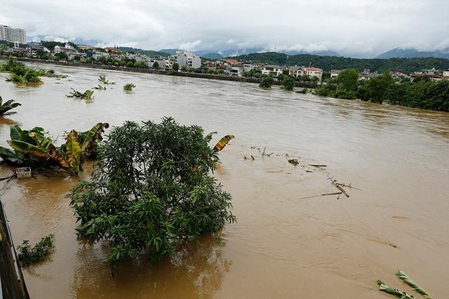 Cận cảnh nước lũ dâng cao ở nơi con sông Hồng chảy vào đất Việt - 9
