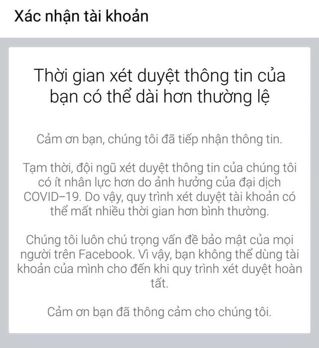 Nhiều người dùng Facebook tại Việt Nam bị khóa tài khoản không rõ lý do - 2