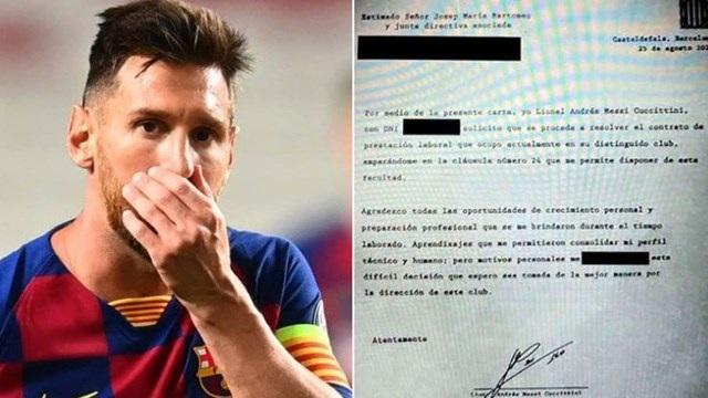 Hé lộ nội dung bản fax thông báo quyết định ra đi của Messi - 1