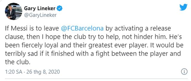 Thế giới bóng đá nói gì về việc Messi muốn rời Barcelona? - 3
