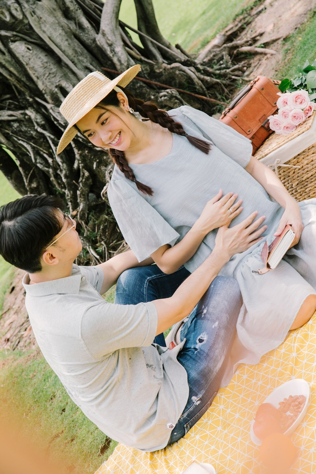 """Đang mang bầu, Á hậu Thúy Vân được nhà chồng cưng như """"trứng mỏng"""" - 6"""