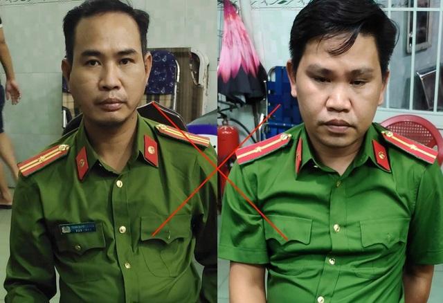 """Hai công an """"dỏm"""" bị bắt giữ khi đang đọc lệnh bắt người - 1"""