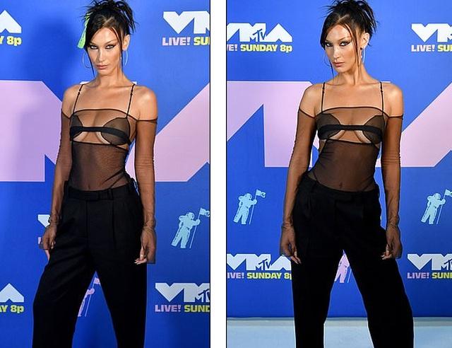 Siêu mẫu Bella Hadid mặc áo xuyên thấu dự lễ trao giải VMA - 4