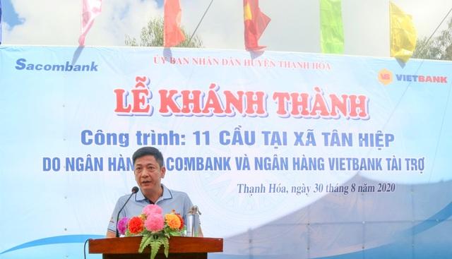 Vietbank tài trợ 5 tỷ đồng xây 6 cầu ở xã biên giới tỉnh Long An - 1