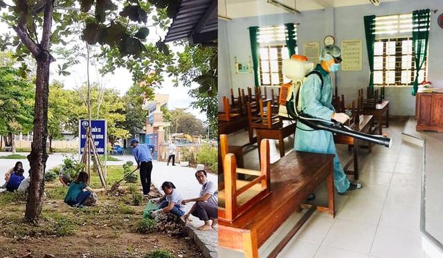 Toàn tỉnh Thừa Thiên Huế ra quân vệ sinh trường học chào đón năm học mới - 3