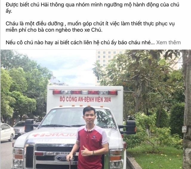 Ông Đoàn Ngọc Hải cùng xe chở miễn phí bệnh nhân nghèo ra tới Hà Nội - 2