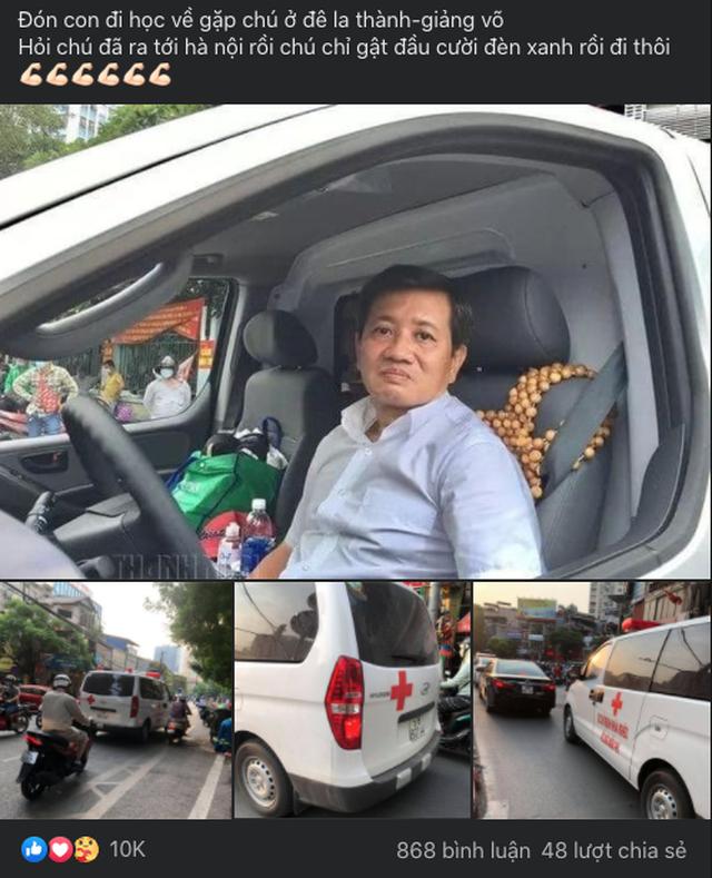 Ông Đoàn Ngọc Hải cùng xe chở miễn phí bệnh nhân nghèo ra tới Hà Nội - 1