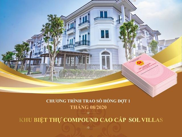 Khu biệt thự Compound cao cấp Sol Villas trao sổ hồng đợt 1 đúng tiến độ - 1