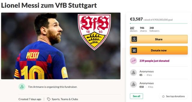 CĐV kêu gọi quyên góp trực tuyến giúp đội bóng có đủ tiền… mua Messi - 1