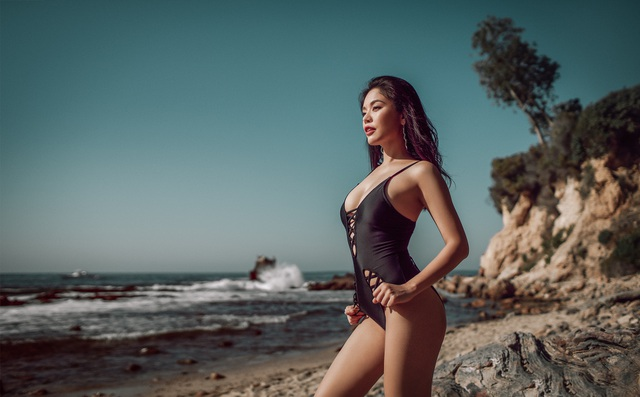 Hot girl Đan Cha khoe dáng gợi cảm dù đang bị kẹt ở Mỹ vì dịch Covid-19 - 6