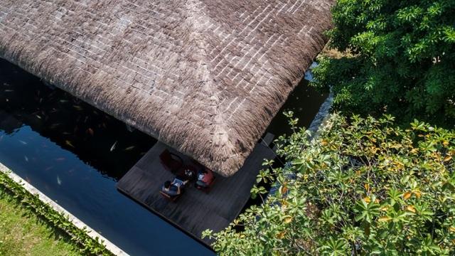 Chán biệt thự nhà phố, nhà giàu Việt về quê làm nhà mái rạ giản dị mà đẹp - 6