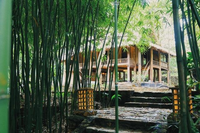 Chán biệt thự nhà phố, nhà giàu Việt về quê làm nhà mái rạ giản dị mà đẹp - 7