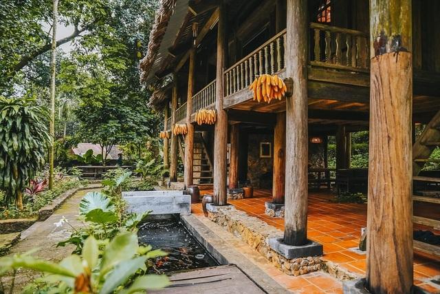 Chán biệt thự nhà phố, nhà giàu Việt về quê làm nhà mái rạ giản dị mà đẹp - 8