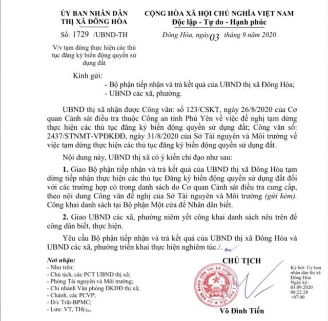 Phú Yên dừng đăng ký, chuyển nhượng hơn 1.100 thửa đất dính các vụ án - 1