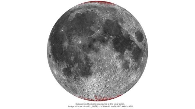 """Bí ẩn Mặt trăng bị """"gỉ sét"""" dù không có nước lỏng và ôxy - 1"""