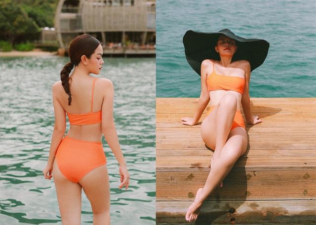 Bà mẹ hai con Phạm Quỳnh Anh khoe dáng quyến rũ với bikini - 2