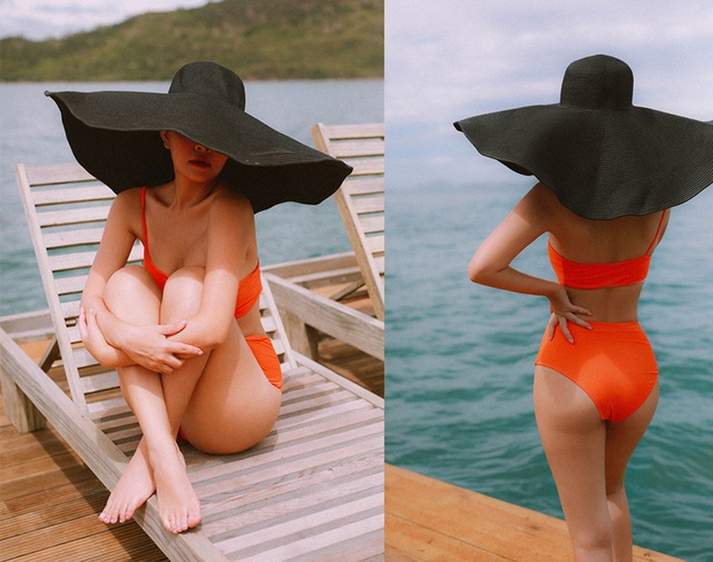 Bà mẹ hai con Phạm Quỳnh Anh khoe dáng quyến rũ với bikini - 3