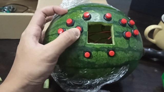 Tài tình chàng sinh viên lấy dưa hấu làm... máy chơi game - 3