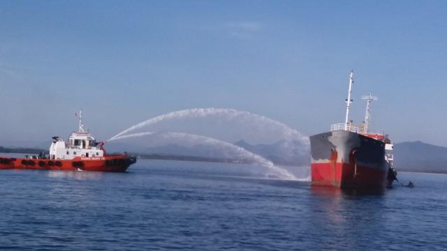 Một người mất tích trong vụ cháy tàu tại Cảng Dung Quất - 1