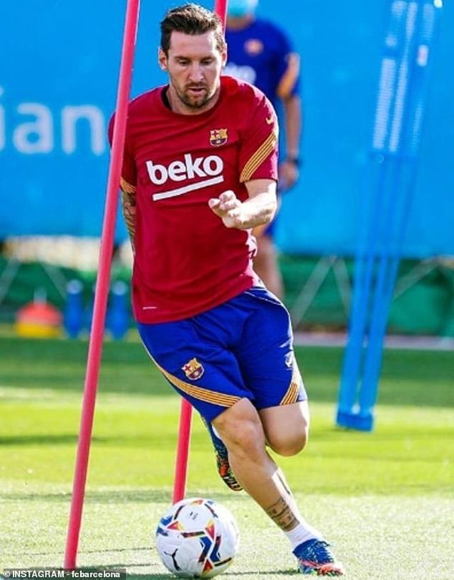 Messi tập buổi đầu tiên dưới thời HLV Ronald Koeman - 5